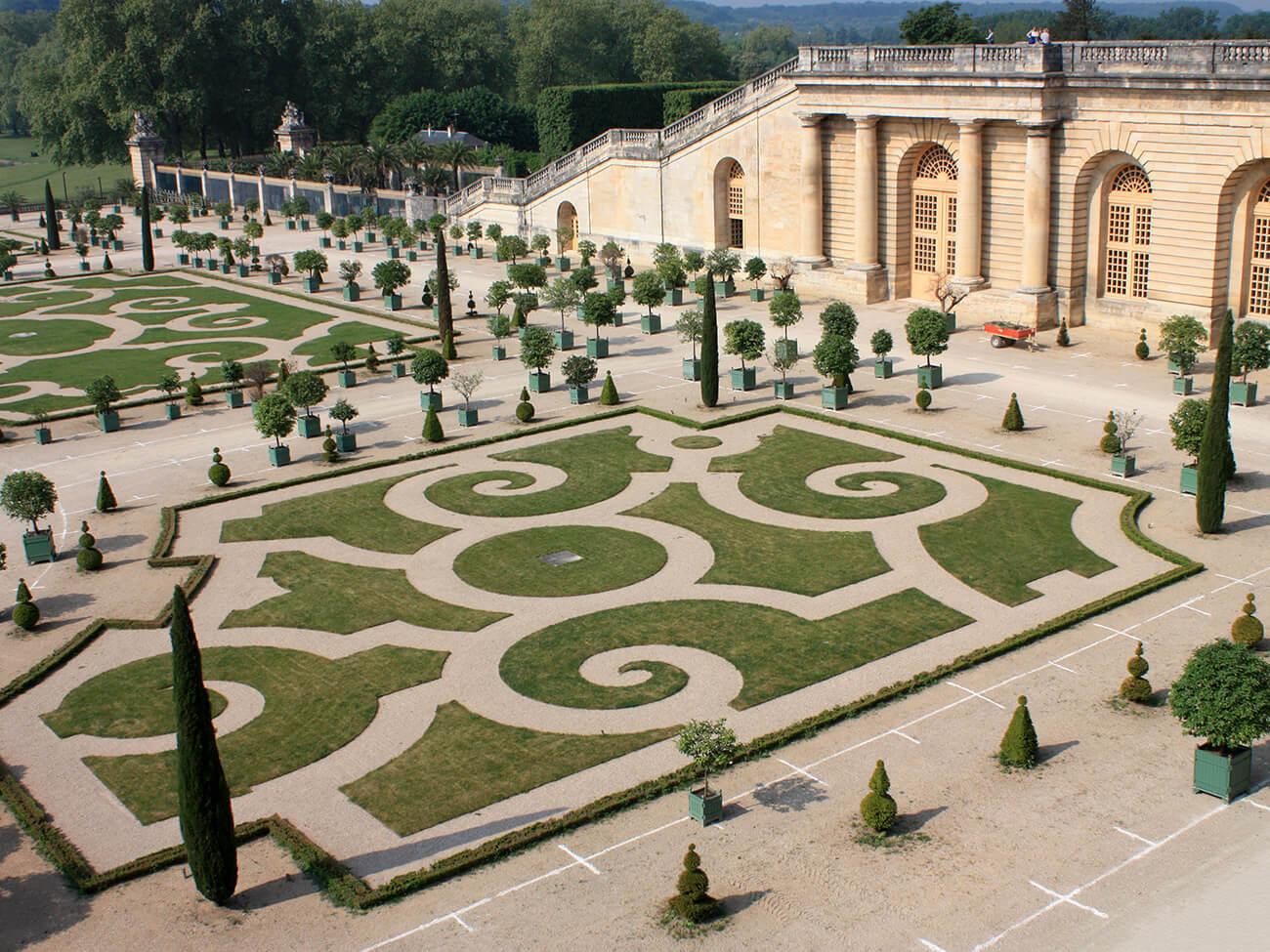 ogród w stylu francuskim wersal